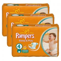 Pampers - Maxi Pack 180 Couches Sleep & Play taille 4 sur Les Couches