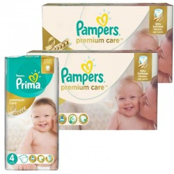 Maxi Mega Pack 320 Couches Pampers Premium Care Prima sur Les Couches