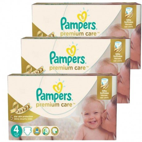 Maxi Giga Pack 420 Couches Pampers Premium Care Prima sur Les Couches