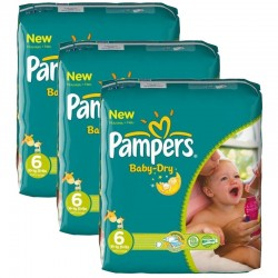 Pampers - Pack 132 Couches Baby Dry taille 6