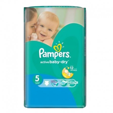 Pampers - Pack 88 Couches Active Baby Dry sur Les Couches