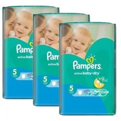 Pampers - Maxi Pack 264 Couches Active Baby Dry sur Les Couches