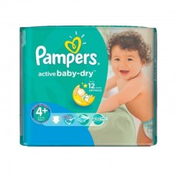 Pampers - Pack 70 Couches Active Baby Dry taille 4+