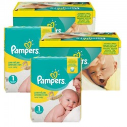 Maxi Mega Pack 384 couches Pampers New Baby Premium Protection sur Les Couches