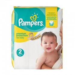 Pampers Pack 22 Couches New Baby Premium Protection taille 2 sur Les Couches