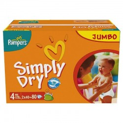 Pampers - 240 Couches Simply Dry taille 4 sur Les Couches