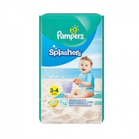 Pampers - Pack 12 Couches de bains Splashers taille 3 sur Les Couches