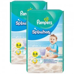 Pampers - Mega Pack 36 Couches de bains Splashers taille 3