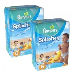 Pampers - Pack 42 Couches Swimming Pants Splachers taille 6 sur Les Couches