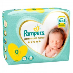 Pampers - Pack 30 Couches New Baby Premium Care taille 0
