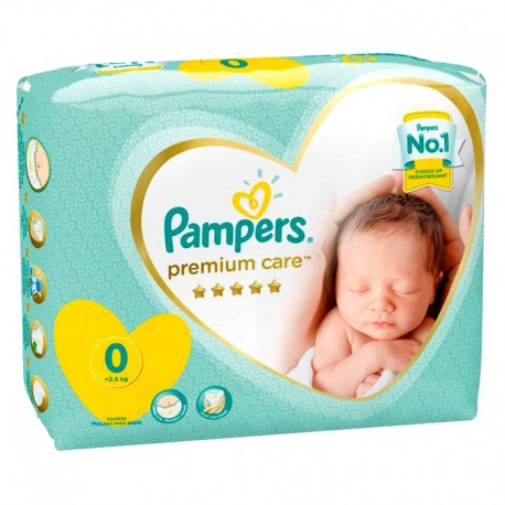 Pampers - Pack 30 Couches New Baby Premium Care taille 0 sur Les Couches