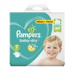 Pampers - Pack 58 Couches Baby Dry taille 7 sur Les Couches