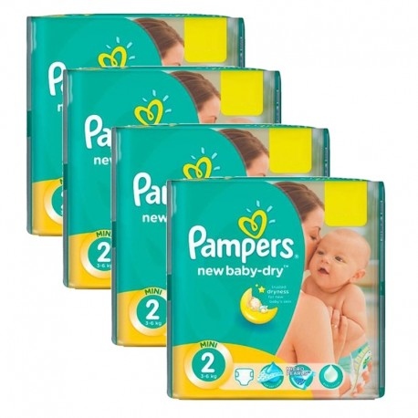 Pampers - Mega Pack 215 Couches New Baby Dry taille 2 sur Les Couches