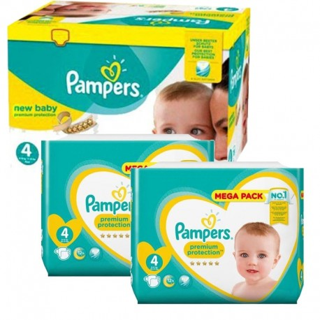 Pampers - Giga Pack 328 Couches New Baby Premium Protection taille 4 sur Les Couches