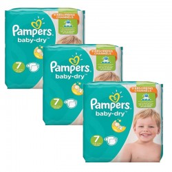Pampers - Maxi Pack 120 Couches Baby Dry taille 7 sur Les Couches