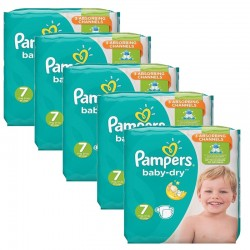 Pampers - Maxi Pack 210 Couches Baby Dry taille 7 sur Les Couches