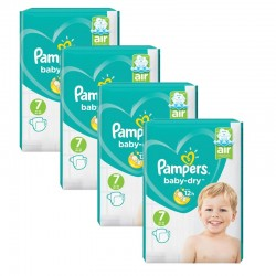 Pampers - Maxi Pack 216 Couches Baby Dry taille 7 sur Les Couches