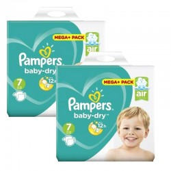 Pampers - Giga Pack 116 Couches Baby Dry taille 7 sur Les Couches