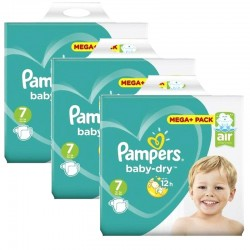Pampers - Mega Pack 174 Couches Baby Dry taille 7 sur Les Couches