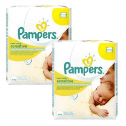 Pampers - Pack 336 Lingettes Bébés New Baby Sensitive sur Les Couches