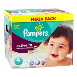 Pampers - Pack 82 Couches Active Fit - premium protection taille 4 sur Les Couches