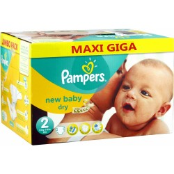 Pampers - Giga pack 258 Couches New Baby Dry sur Les Couches