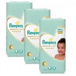 Pampers - Maxi giga pack 374 Couches New Baby Premium Care taille 4