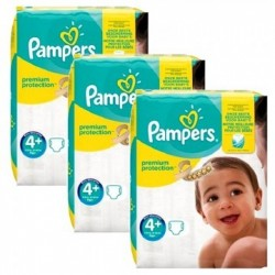 Pampers - Pack 63 Couches New Baby Premium Protection taille 4+ sur Les Couches