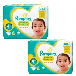 Pampers - Maxi mega pack 462 Couches New Baby Premium Protection taille 4+ sur Les Couches