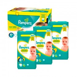 Pampers - Maxi mega pack 483 Couches New Baby Premium Protection taille 4+ sur Les Couches
