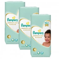 Maxi mega pack 408 Couches Pampers New Baby Premium Care taille 4 sur Les Couches