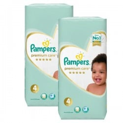 Pampers - Maxi mega pack 442 Couches New Baby Premium Care taille 4 sur Les Couches
