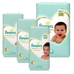Pampers - Maxi mega pack 476 Couches New Baby Premium Care taille 4 sur Les Couches