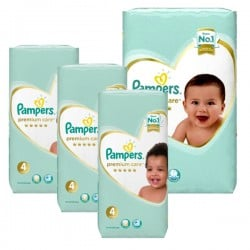Pampers - Pack 68 Couches New Baby Premium Care taille 4 sur Les Couches