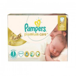 Pampers - Maxi mega pack 440 Couches Premium Care taille 1 sur Les Couches