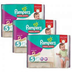Pampers - Pack 34 Couches Active Fit Pants taille 5 sur Les Couches