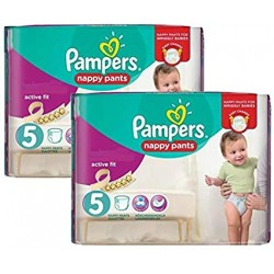 Pampers - Pack 51 Couches Active Fit Pants taille 5 sur Les Couches