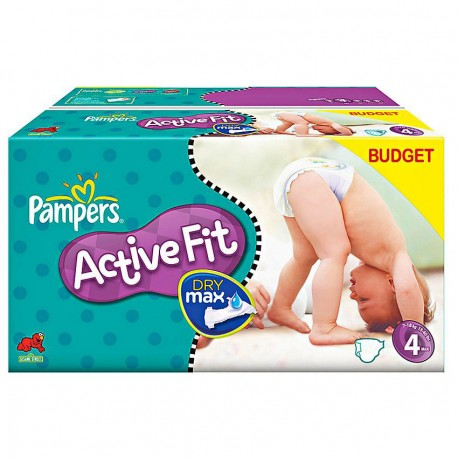 Pampers - 168 Couches Active Fit taille 4 sur Les Couches