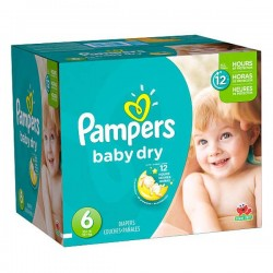 Pampers - Maxi mega pack 468 Couches Baby Dry taille 6 sur Les Couches