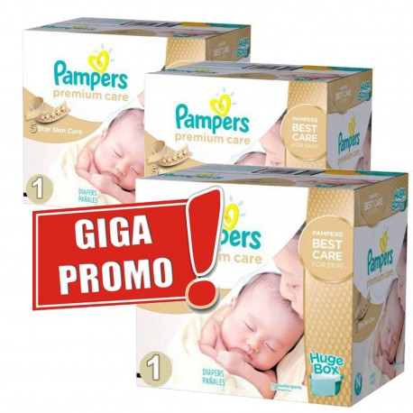 Pampers - Pack jumeaux 880 Couches Premium Care taille 1 sur Les Couches
