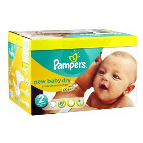 Pampers - Mega pack 172 Couches New Baby Dry sur Les Couches