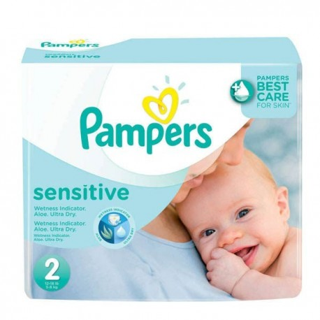 Pampers - Maxi mega pack 420 Couches New Baby Sensitive sur Les Couches
