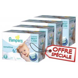 Pampers - Pack jumeaux 600 Couches New Baby Sensitive sur Les Couches