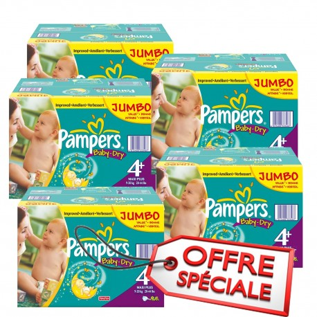 Pampers - Mega pack 123 Couches Baby Dry taille 4+ sur Les Couches