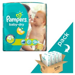 Pampers - Giga pack 246 Couches Baby Dry taille 4+ sur Les Couches