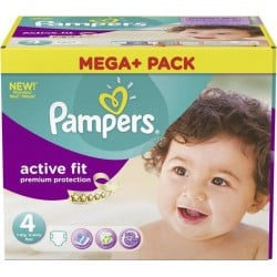 Pampers - Mega pack 164 Couches Active Fit Premium Protection taille 4