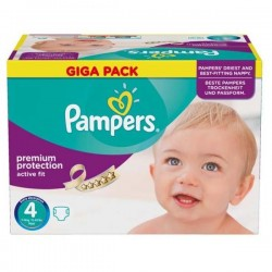 Pampers - Maxi giga pack 328 Couches Active Fit Premium Protection taille 4