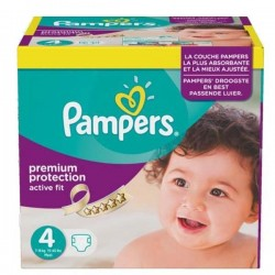Pampers - Maxi mega pack 410 Couches Active Fit Premium Protection taille 4