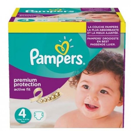 Pampers - Maxi mega pack 410 Couches Active Fit Premium Protection taille 4 sur Les Couches