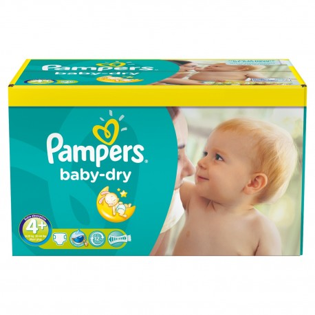 Pampers - Maxi giga pack 369 Couches Baby Dry taille 4+ sur Les Couches